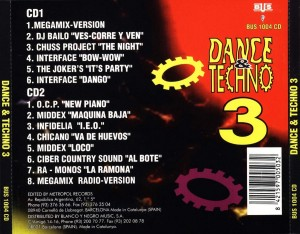 Dance & Techno 3 Barcelona Urban Sound Blanco Y Negro 1994