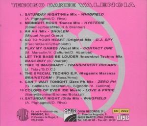 Techno Dance Valencia 1994 Open Records