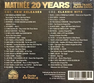 Matinée 20 Years Compilation Blanco Y Negro Matinée Music