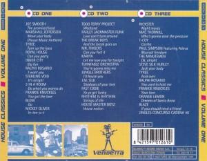 House Classics Volume One 1997 Vendetta Records Blanco Y Negro