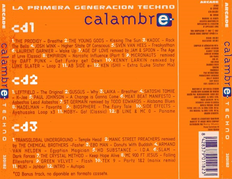 Calambre Techno - 1997 - 3 CD's - Arcade - ellodance