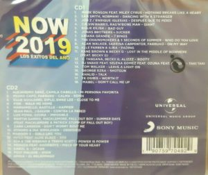 Now 2019 Album Recopilatorio Sony Music Universal Music